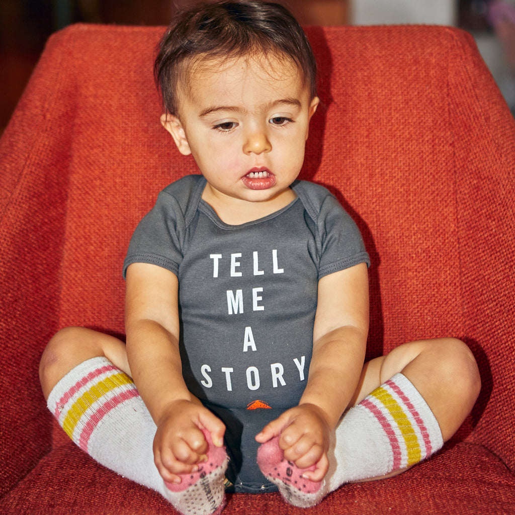 Tell Me A Story Baby Onesie