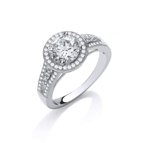Crown & Co. Halo Ring
