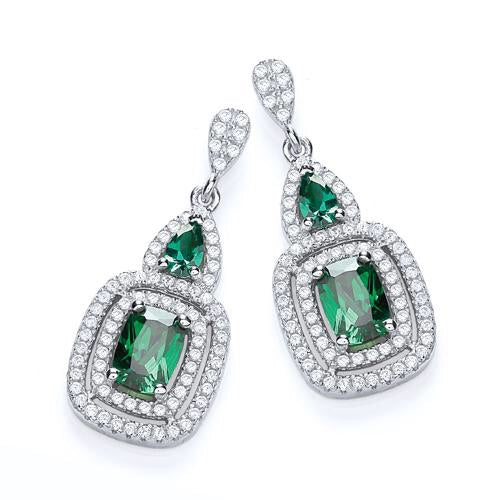 J Jaz Fancy Emerald Green Drop earrings