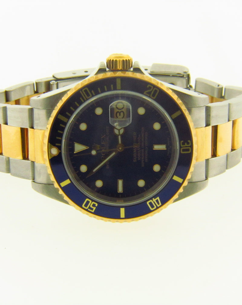 Gent's Two Tone Rolex Submariner Wristwatch