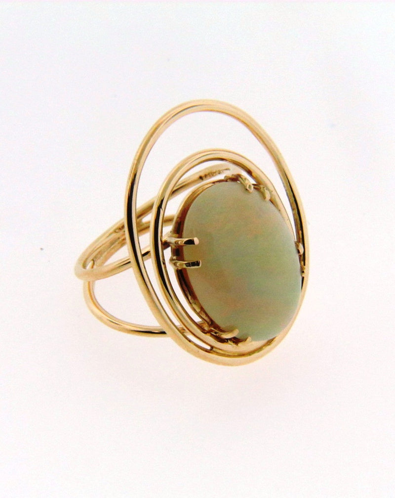 14K Yellow Gold White Opal Ring | 18 Karat Appraisers | Beverly Hills, CA | Fine Jewelry