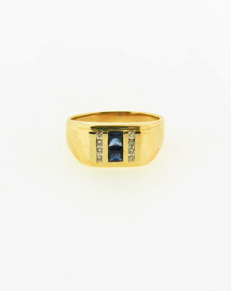 14K Yellow Gold Sapphire and Diamond Ring | 18 Karat Appraisers | Beverly Hills, CA | Fine Jewelry