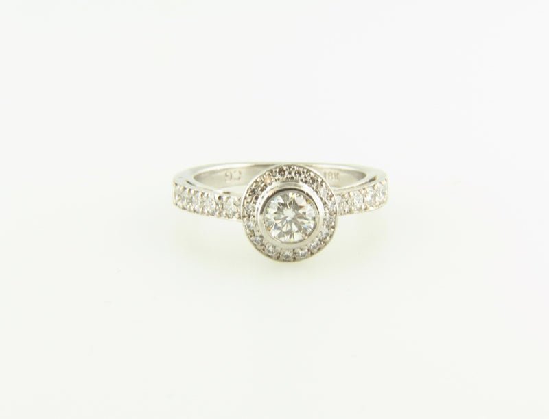 18K White Gold, Diamond Solitaire Ring | 18 Karat Appraisers | Beverly Hills, CA | Fine Jewelry