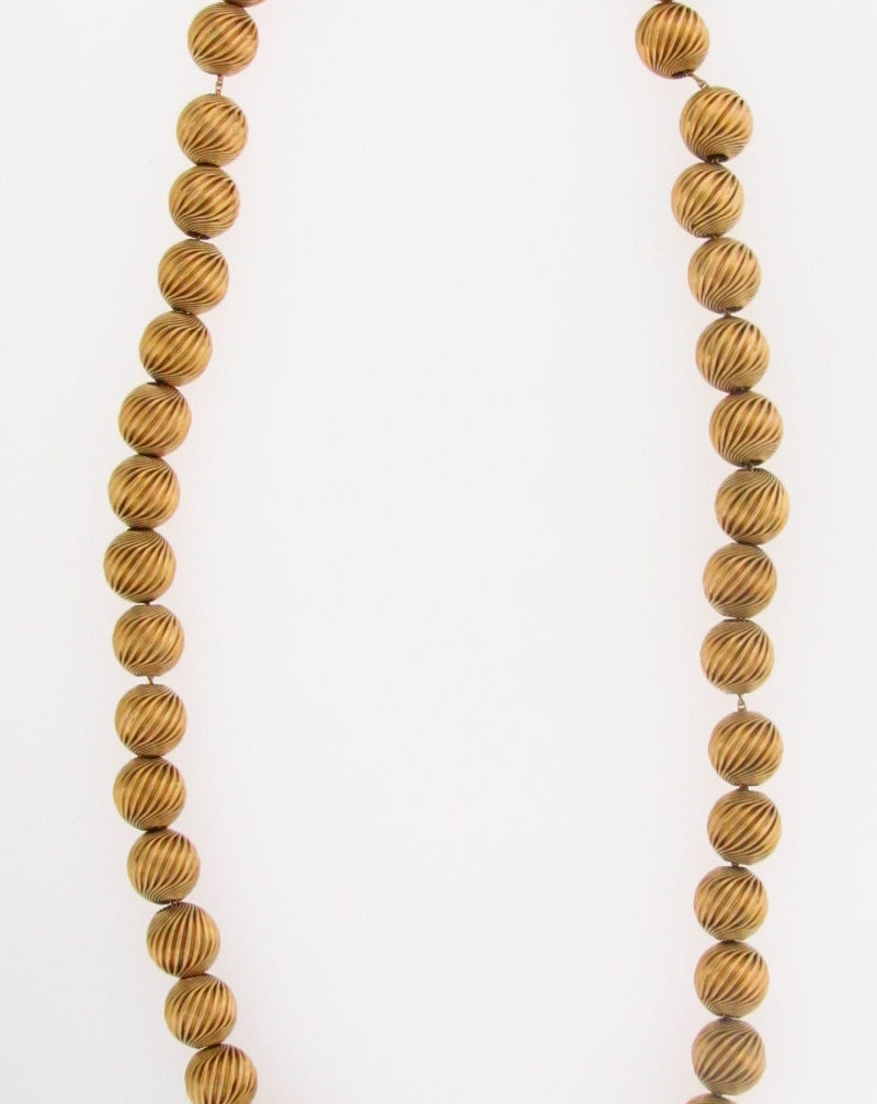 14K-YG CIRCULAR BEADS NECKLACE | 18 Karat Appraisers | Beverly Hills, CA | Fine Jewelry