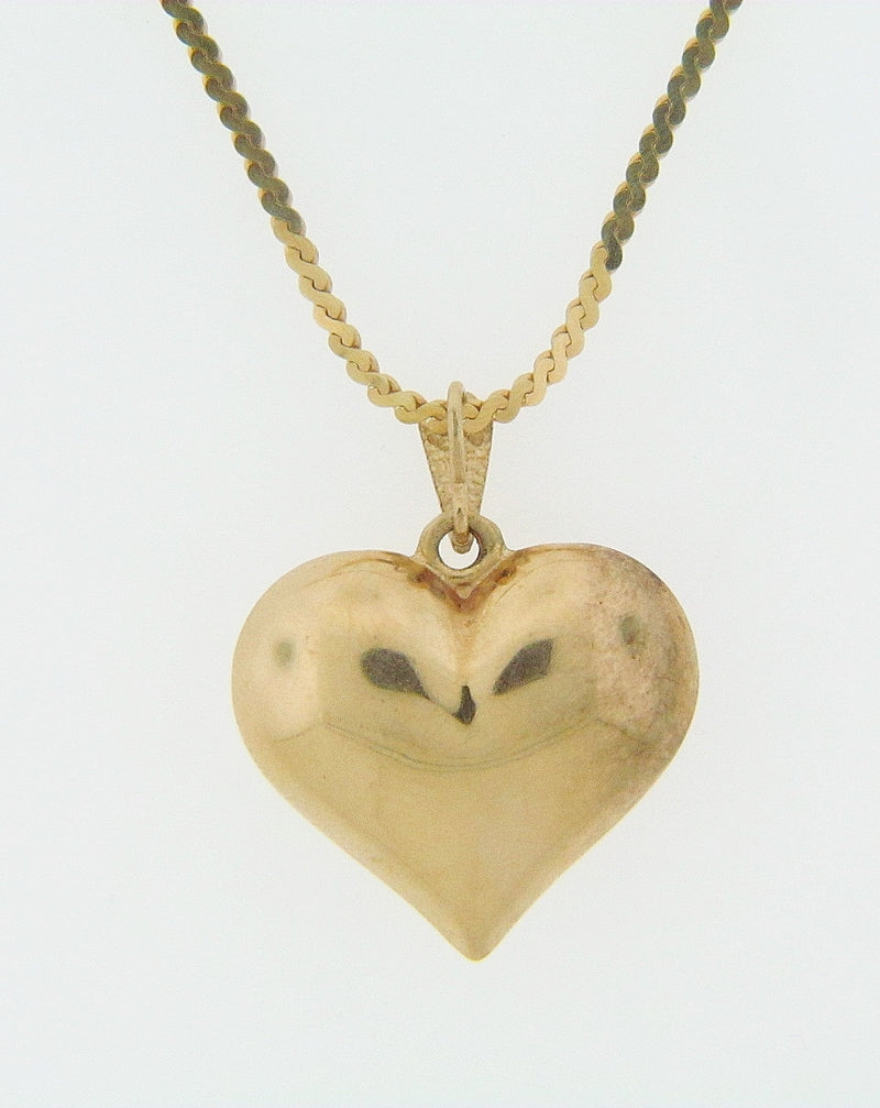 14K YELLOW GOLD HEART PENDANT | 18 Karat Appraisers | Beverly Hills, CA | Fine Jewelry
