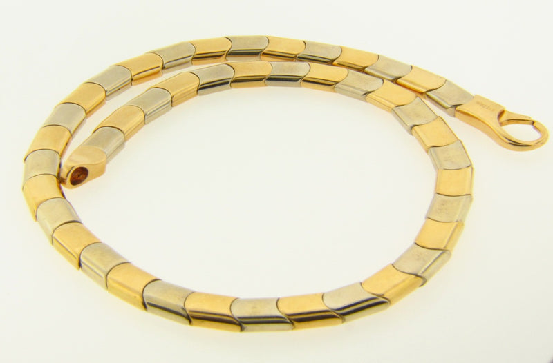 18K Yellow and White Gold Necklace by Bvlgari | 18 Karat Appraisers | Beverly Hills, CA | Fine Jewelry