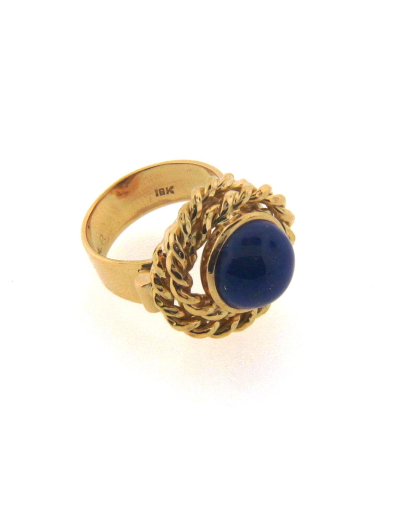 18K Yellow Gold Lapis Lazuli Ring | 18 Karat Appraisers | Beverly Hills, CA | Fine Jewelry