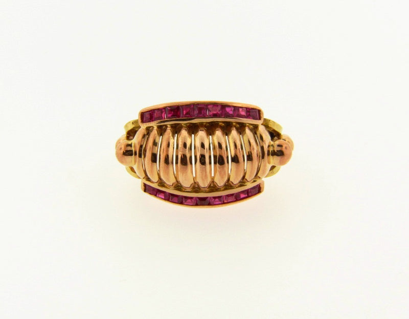 Retro 18K Rose Gold, Ruby Ring | 18 Karat Appraisers | Beverly Hills, CA | Fine Jewelry