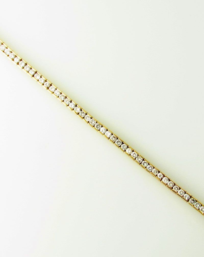 14K Yellow Gold, Diamond Tennis Bracelet | 18 Karat Appraisers | Beverly Hills, CA | Fine Jewelry