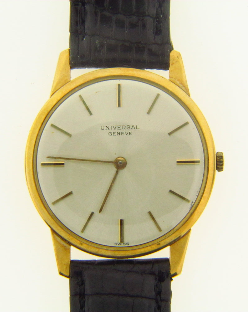 Gent's 18K Yellow Gold and Leather Strap Wristwatch