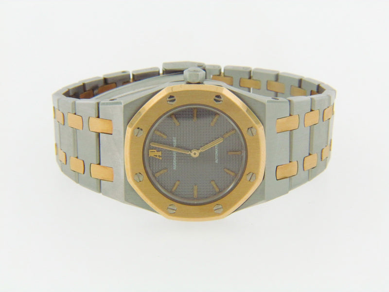 LADIES STAINLESS STEEL AND YELLOW GOLD WRISTWATCH