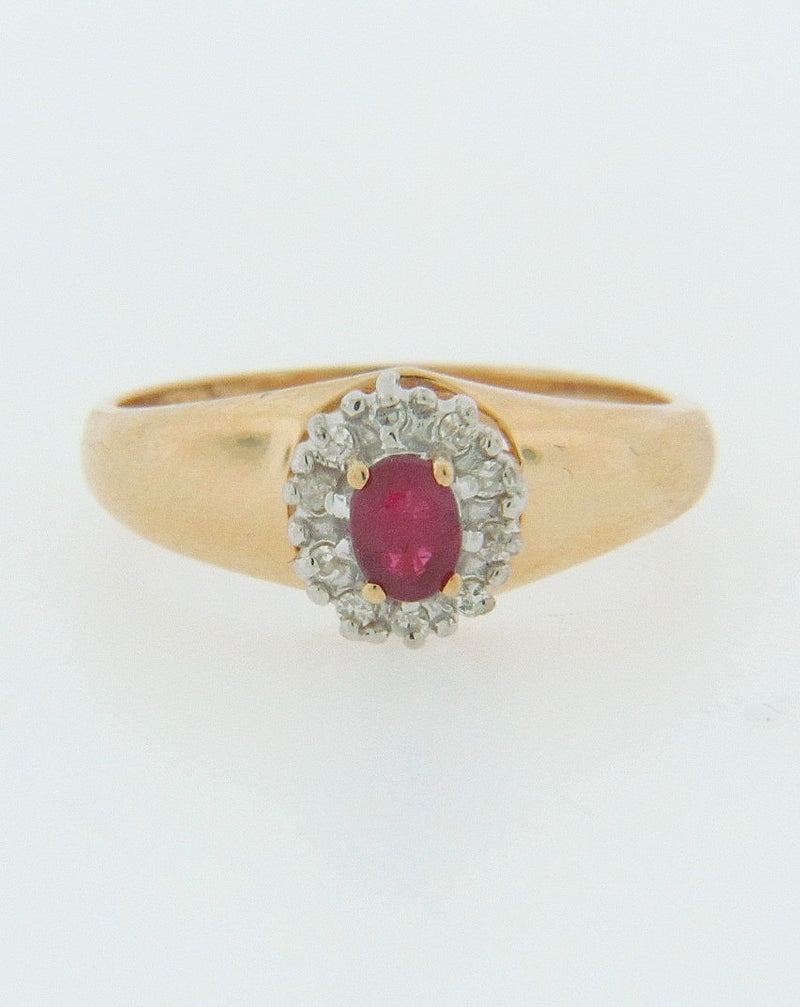 14K-YG RUBY AND DIAMOND RING | 18 Karat Appraisers | Beverly Hills, CA | Fine Jewelry