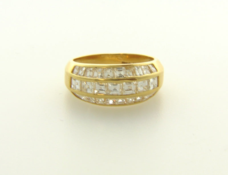 18K Yellow Gold, Diamond Band | 18 Karat Appraisers | Beverly Hills, CA | Fine Jewelry