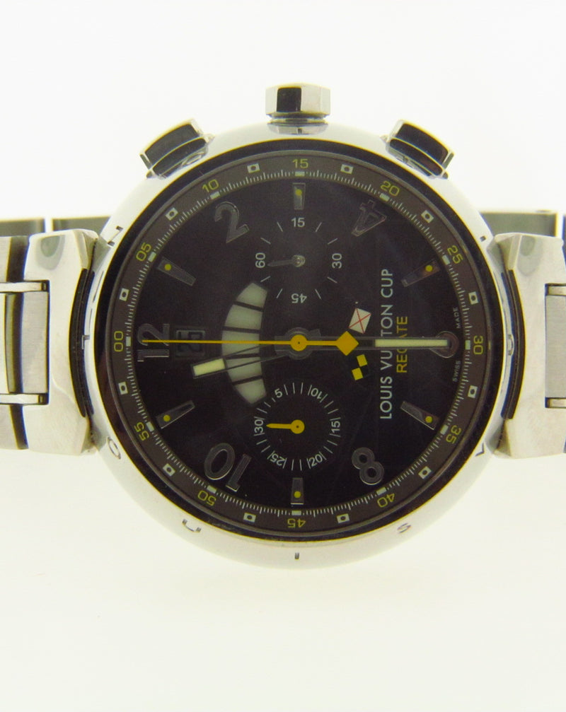 Gent's Stainless Steel Chronograph Wristwatch by Louis Vuitton | 18 Karat Appraisers | Beverly Hills, CA | Fine Jewelry