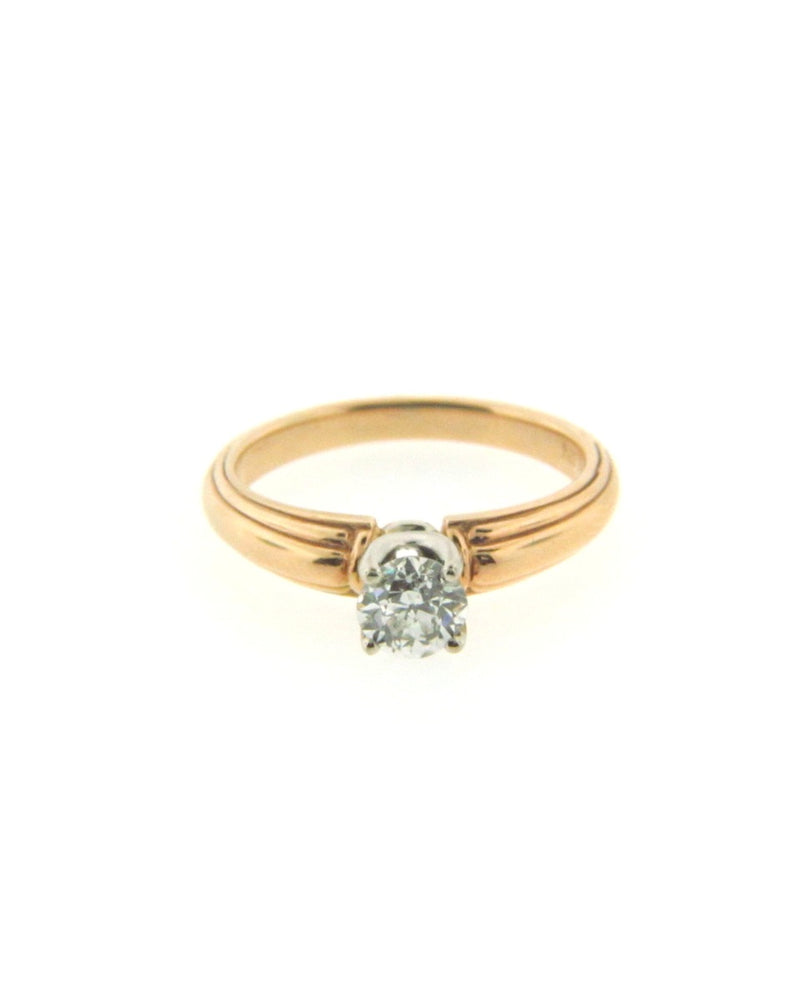 18K and 14K Yellow Gold Diamond Solitaire Ring | 18 Karat Appraisers | Beverly Hills, CA | Fine Jewelry