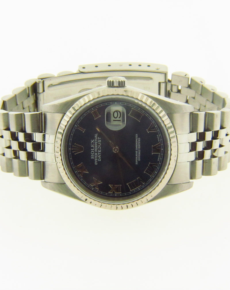 Gent's Stainless Steel Date Just Rolex Wristwatch
