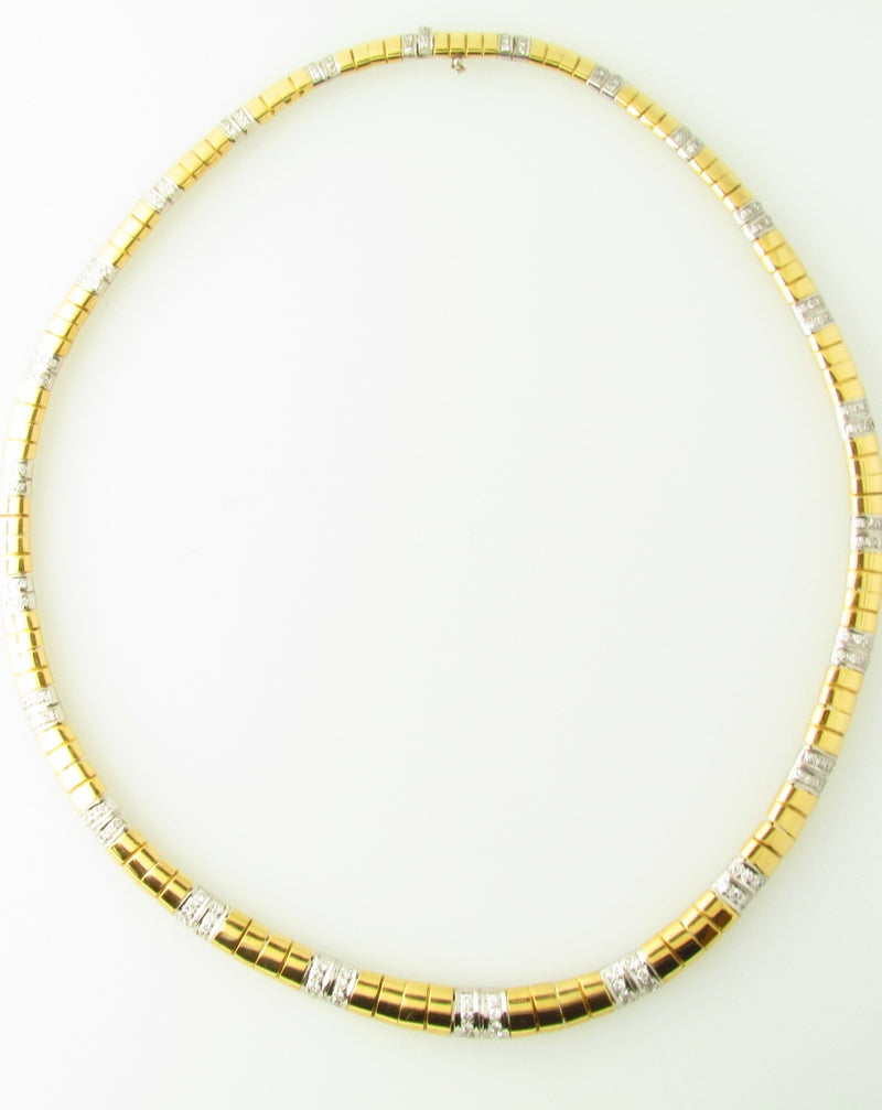 18K Yellow and White Gold, Diamond Necklace | 18 Karat Appraisers | Beverly Hills, CA | Fine Jewelry