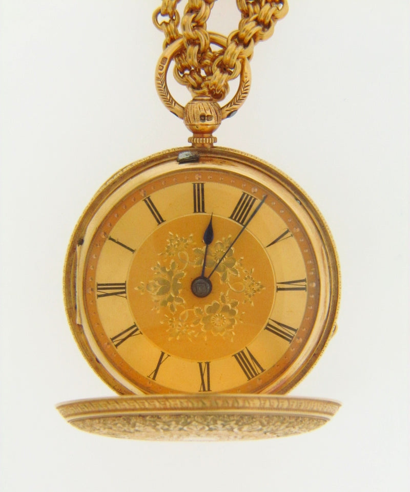 18K YELLOW GOLD POCKET WATCH / PENDANT | 18 Karat Appraisers | Beverly Hills, CA | Fine Jewelry