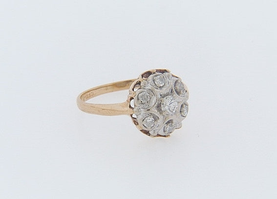 14K-YG DIAMOND DOME RING | 18 Karat Appraisers | Beverly Hills, CA | Fine Jewelry