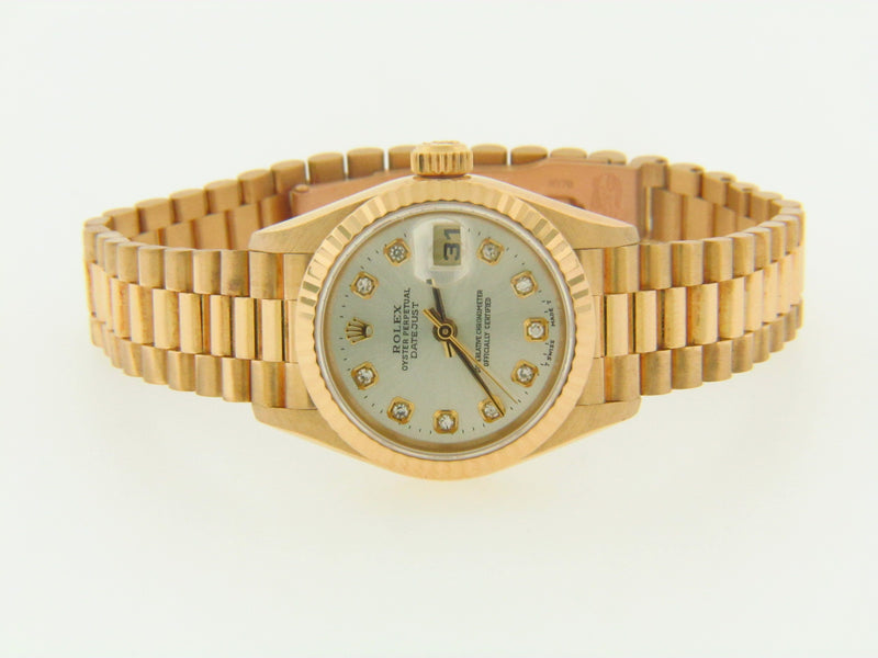18K YELLOW GOLD ROLEX LADYS WRISTWATCH | 18 Karat Appraisers | Beverly Hills, CA | Fine Jewelry