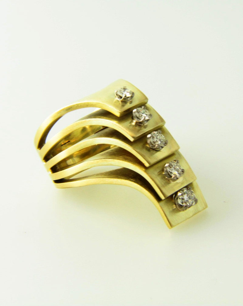 Retro 14K Yellow Gold, Diamond Ring | 18 Karat Appraisers | Beverly Hills, CA | Fine Jewelry