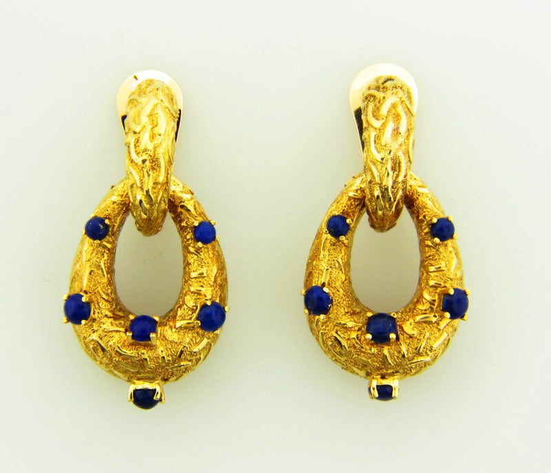 18K Yellow Gold, Door Knocker Earrings | 18 Karat Appraisers | Beverly Hills, CA | Fine Jewelry