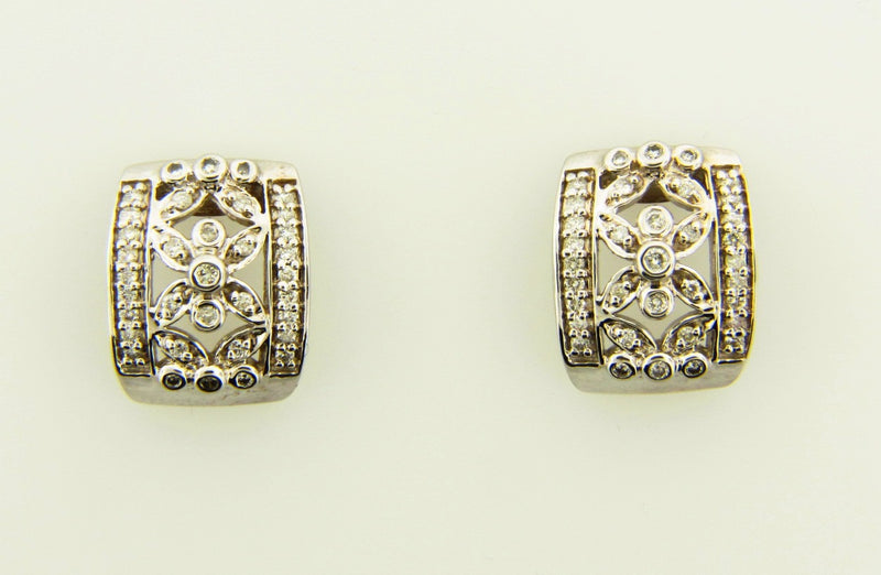 18K White Gold, Diamond Earrings | 18 Karat Appraisers | Beverly Hills, CA | Fine Jewelry