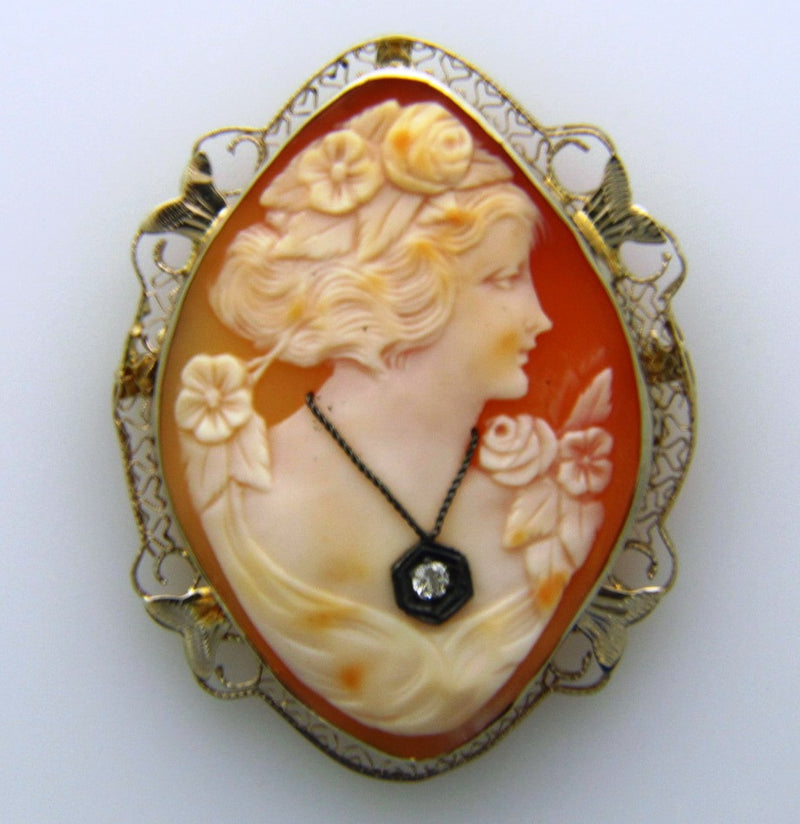 14K Yellow Gold, Cameo Brooch | 18 Karat Appraisers | Beverly Hills, CA | Fine Jewelry
