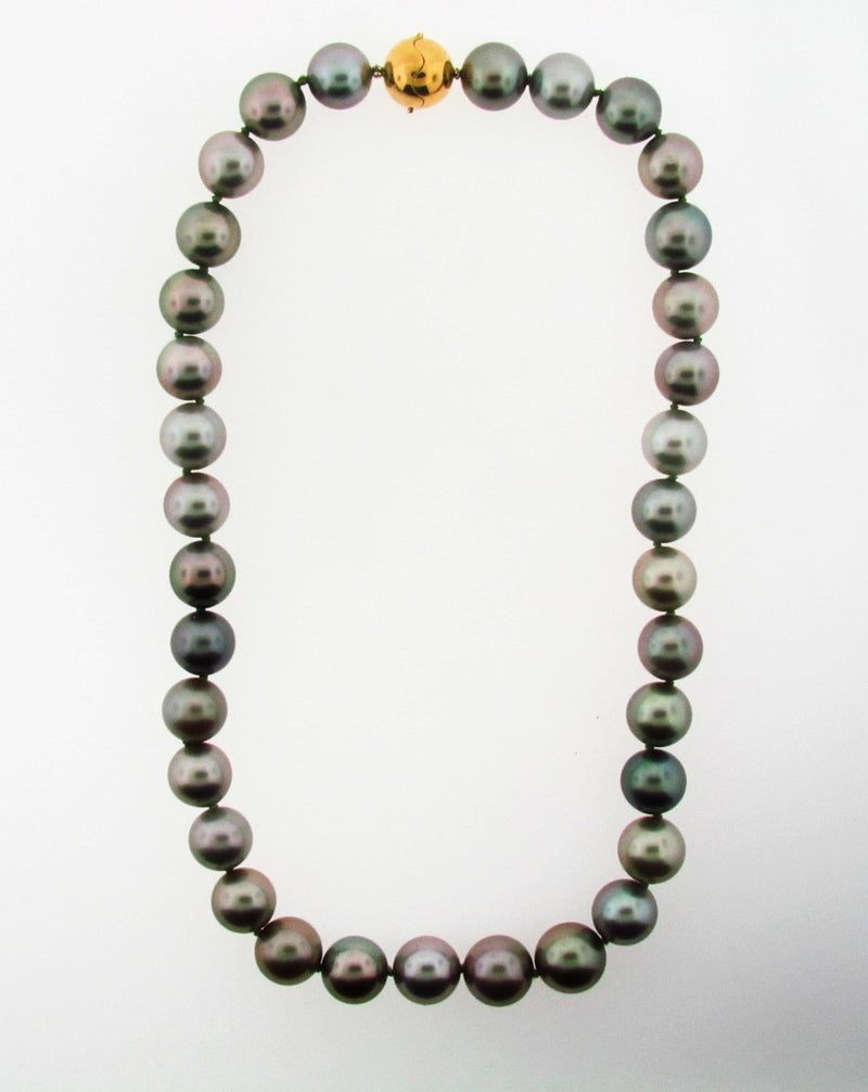 Gray Colored Cultured Pearl Necklace