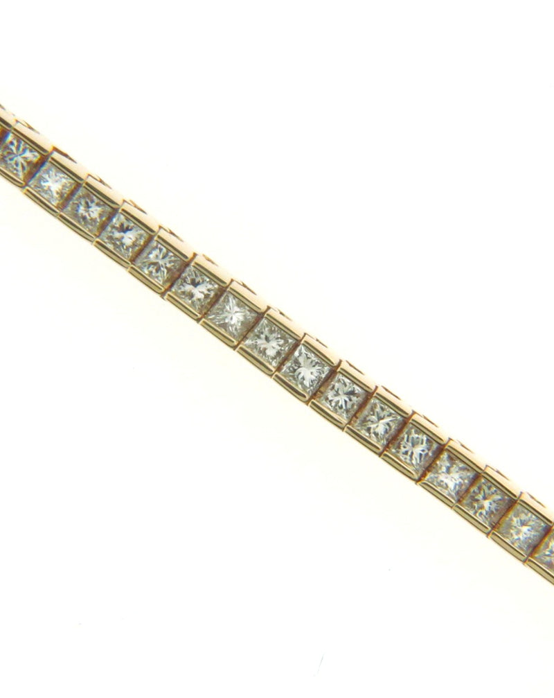 14K Yellow Gold Diamond Tennis Bracelet | 18 Karat Appraisers | Beverly Hills, CA | Fine Jewelry