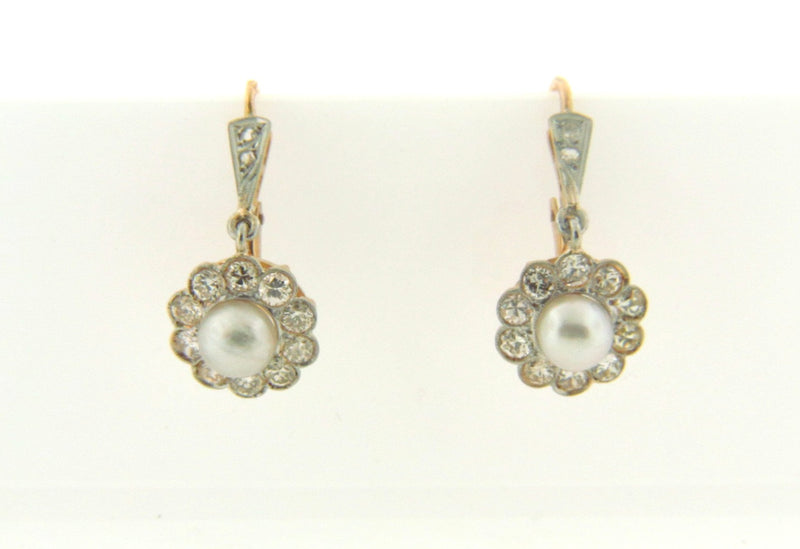 18K bi-color, Pearl and Diamond Earrings | 18 Karat Appraisers | Beverly Hills, CA | Fine Jewelry