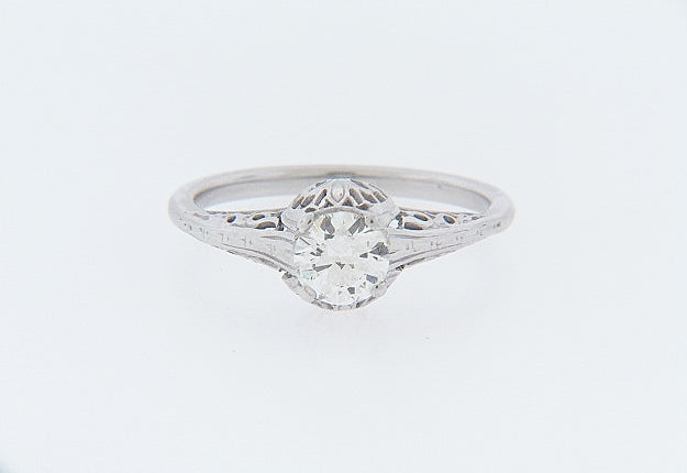 10K-WG DIAMOND SOLITAIRE RING | 18 Karat Appraisers | Beverly Hills, CA | Fine Jewelry