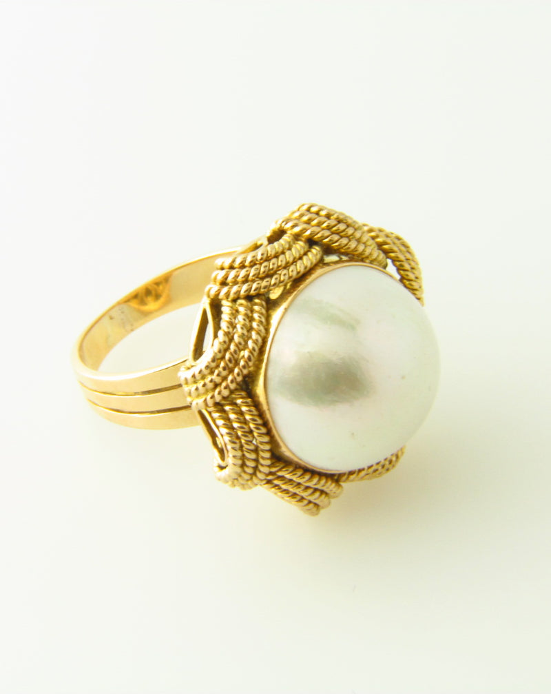 14K-YG Mabe Pearl Ring | 18 Karat Appraisers | Beverly Hills, CA | Fine Jewelry