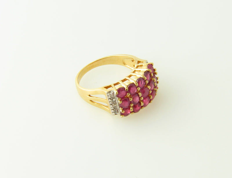 14K Yellow Gold, Ruby and Diamond Ring | 18 Karat Appraisers | Beverly Hills, CA | Fine Jewelry