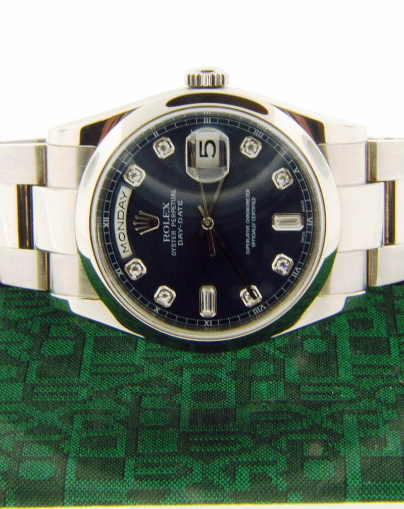 18K White Gold, Day/Date Rolex Wristwatch | 18 Karat Appraisers | Beverly Hills, CA | Fine Jewelry