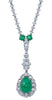Art Deco, Platinum Emerald and Diamond Necklace