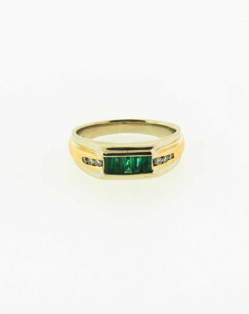 14K White Gold Emerald and Diamond Ring | 18 Karat Appraisers | Beverly Hills, CA | Fine Jewelry