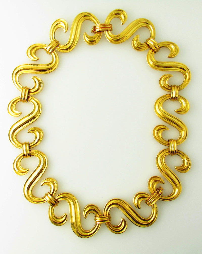 18K-YG S-LINK NECKLACE BY