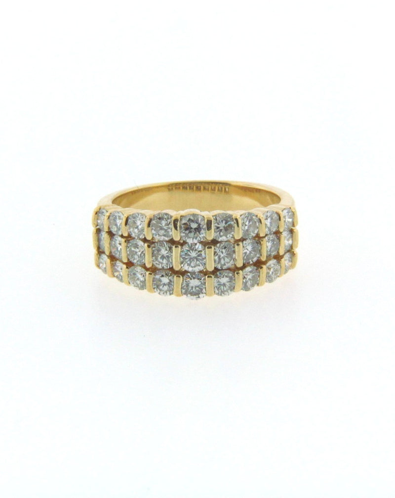 18K Yellow Gold Diamond Band | 18 Karat Appraisers | Beverly Hills, CA | Fine Jewelry
