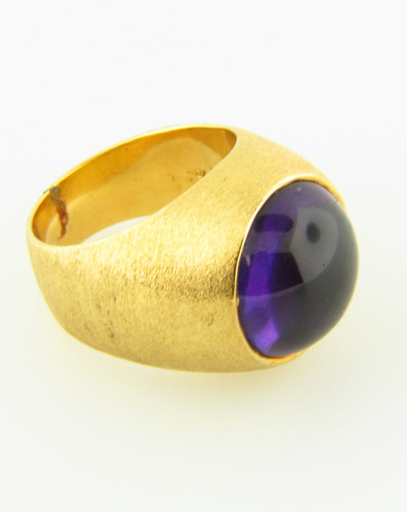 18K Yellow Gold Amethyst Ring | 18 Karat Appraisers | Beverly Hills, CA | Fine Jewelry