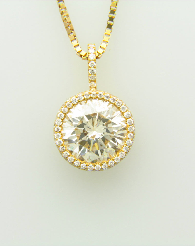 18K Yellow Gold Diamond Solitaire Pendant | 18 Karat Appraisers | Beverly Hills, CA | Fine Jewelry