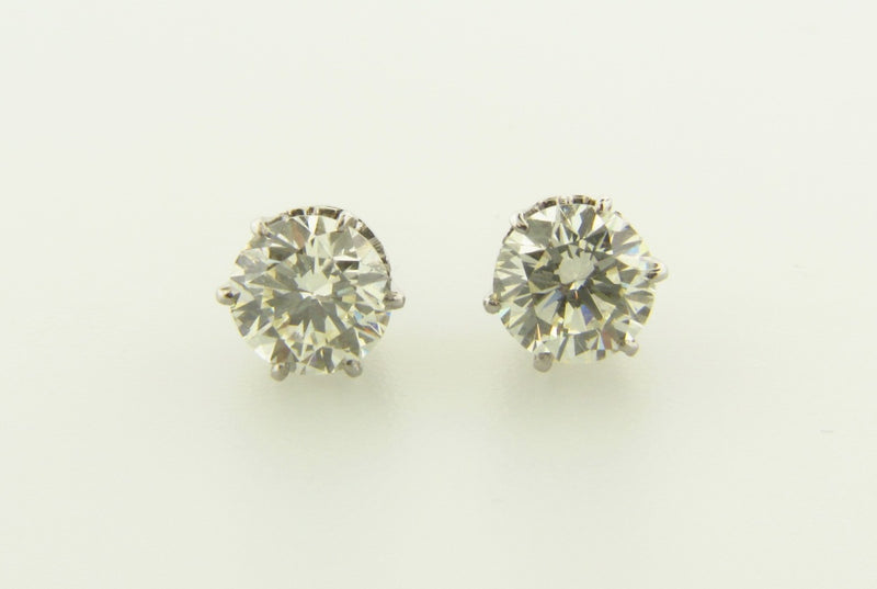 14K White Gold, Diamond Stud Earrings | 18 Karat Appraisers | Beverly Hills, CA | Fine Jewelry