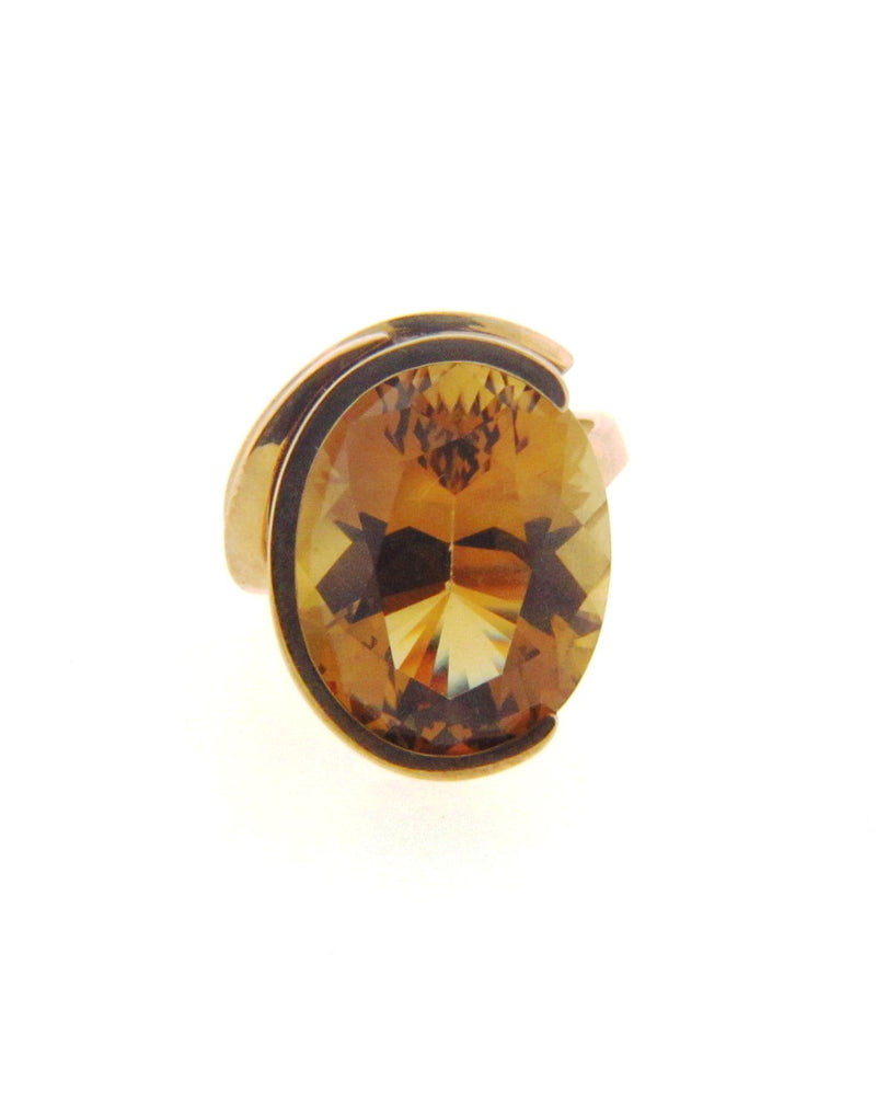 14K Yellow Gold Citrine Ring | 18 Karat Appraisers | Beverly Hills, CA | Fine Jewelry