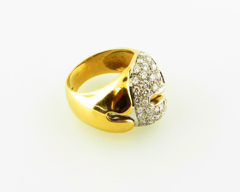 18K-YG+WG DIAMOND RING