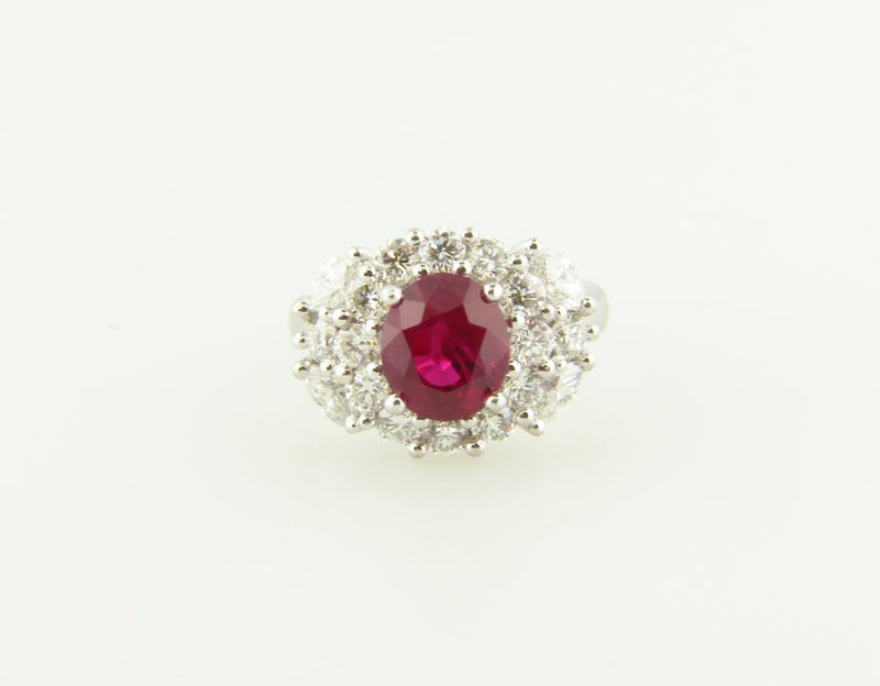 PLATINUM RUBY AND DIAMOND RING | 18 Karat Appraisers | Beverly Hills, CA | Fine Jewelry
