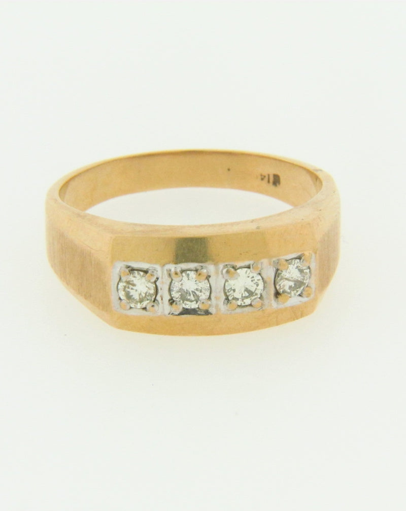 14K YELLOW GOLD DIAMOND BAND | 18 Karat Appraisers | Beverly Hills, CA | Fine Jewelry