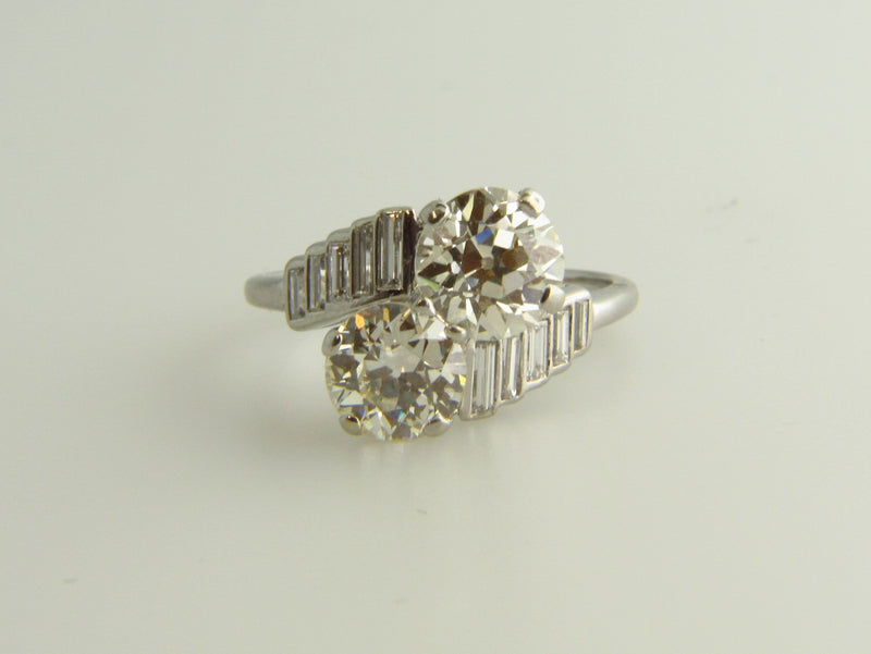 Platinum, Diamond Bypass Ring | 18 Karat Appraisers | Beverly Hills, CA | Fine Jewelry