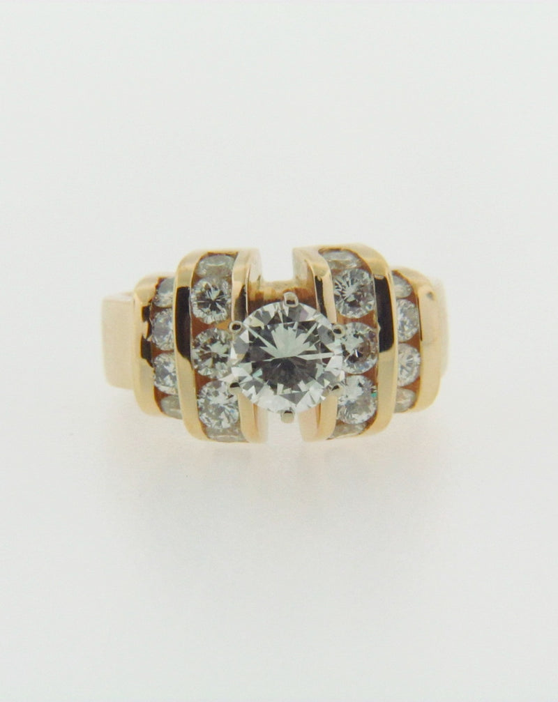 18K-YG DIAMOND SOLITAIRE RING | 18 Karat Appraisers | Beverly Hills, CA | Fine Jewelry