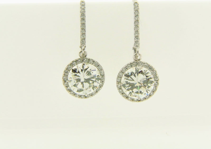 Platinum Diamond Stud Dangling Earrings | 18 Karat Appraisers | Beverly Hills, CA | Fine Jewelry