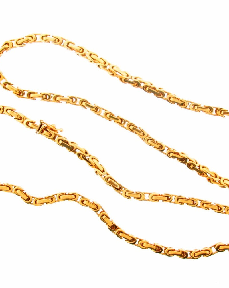 18K Yellow Gold Link Necklace | 18 Karat Appraisers | Beverly Hills, CA | Fine Jewelry